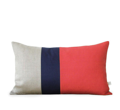 12x20 Coral Colorblock Pillow by Jillian Rene Decor