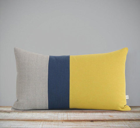 12x20 Mustard Colorblock Pillow by Jillian Rene Decor