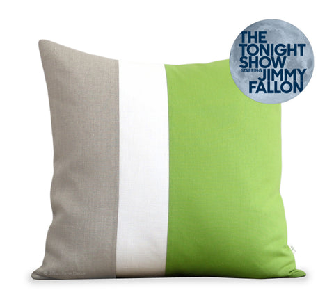 Jillian Rene Decor Colorblock Pillows as seen in The Tonight Show Greenroom