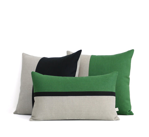 As seen in GQ Magazine - Horizon Line and Colorblock Pillows by Jillian Rene Decor