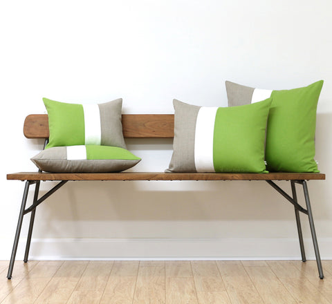Jillian Rene Decor Signature Colorblock Pillows in Greenery