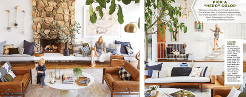 Emily Henderson's Home in Good Housekeeping Magazine with Jillian Rene Decor Pillows