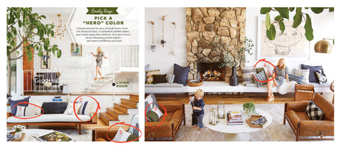 JILLIAN RENE DECOR Pillows as seen in Good Housekeeping with Emily Henderson