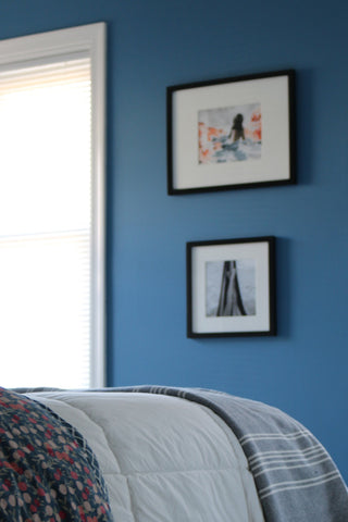 Guest Bedroom: Bedding Detail and Artwork
