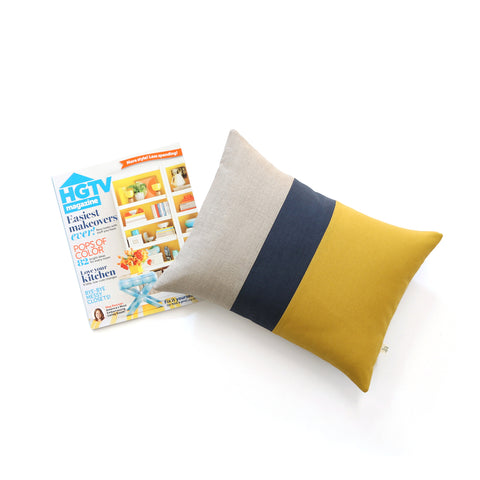 HGTV Magazine: Signature Colorblock Pillow by Jillian Rene Decor