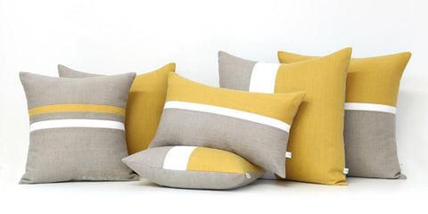 Yellow Pillow Set of 6 by Jillian Rene Decor