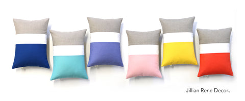 Jillian Rene Decor Colorblock Pillows - Pantone Spring 2016