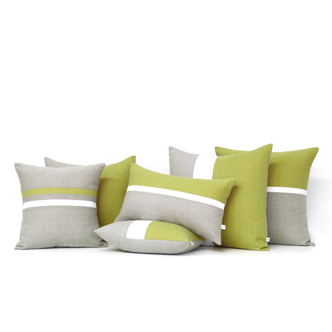 As seen in GQ Magazine, Linden Green Pillows by Jillian Rene Decor