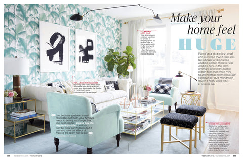 Modern Fringe Pillow as seen in Redbook Magazine