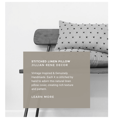 Hand Stitched Linen Pillows by Jillian Rene Decor