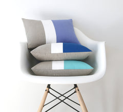 Colorblock Pillow Covers by Jillian Rene Decor - Serenity, Cobalt or Mint
