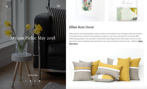 Jillian Rene Decor: As seen in Katherine Heigl's Artisan Picks - May 2018