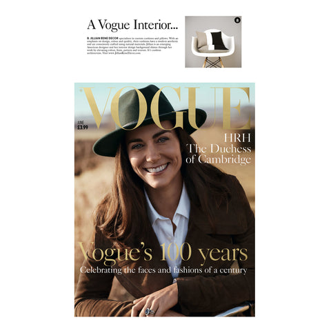 Signature Colorblock Pillows by Jillian Rene Decor as seen in Vogue Magazine