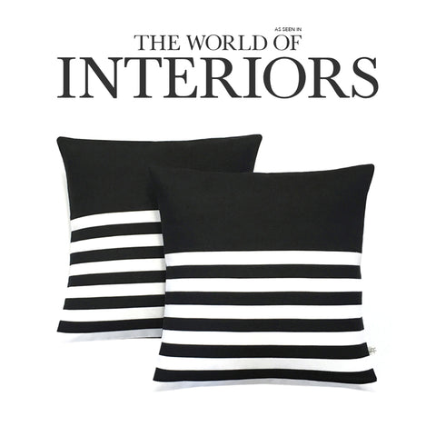 Breton Stripe Pillows as seen in The World of Interiors Magazine - June 2016