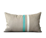 Striped Pillow - Mint/Cream/Natural