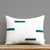 Interconnection Pillow - Biscay Teal and Cream