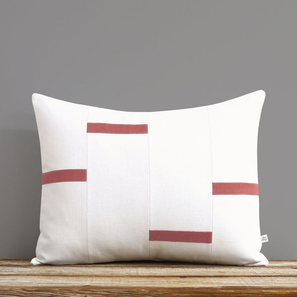 Interconnection Pillow - Mauve and Cream