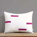 Interconnection Pillow - Sangria and Cream