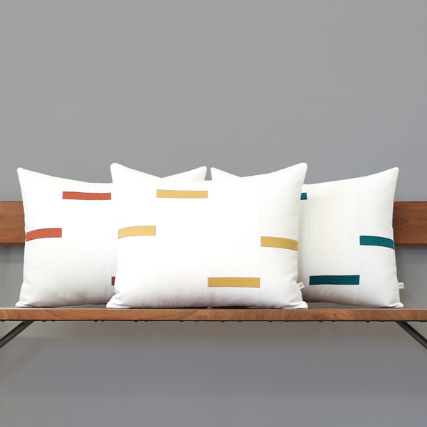 Interconnection Pillow - Squash Yellow and Cream