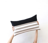 Breton Stripe Pillow - Caramel, Cream and Natural