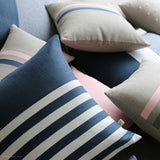 Breton Stripe Pillow - Navy and Cream