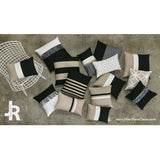 Rugby Stripe Pillow - Black and Natural