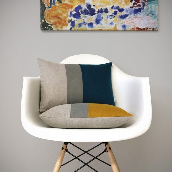 Colorblock Pillows - Marigold or Lake