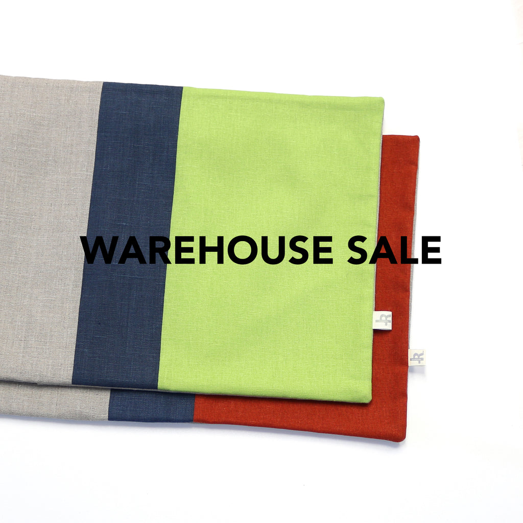 WAREHOUSE SALE 12x16 Colorblock Pillow Cover with Navy Stripe