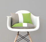 Custom Green Colorblock Pillow Covers