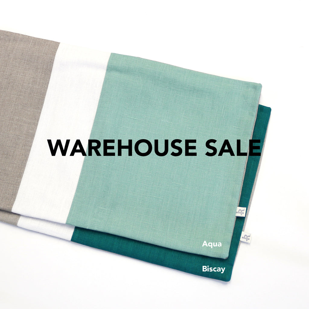 WAREHOUSE SALE 12x20 Colorblock Pillow Cover with Cream Stripe