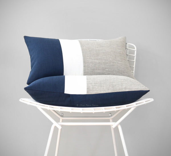 Nautical Chambray Colorblock Pillow