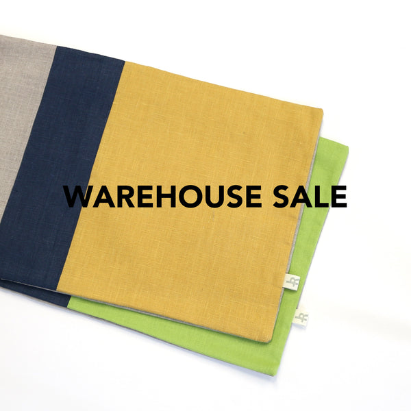 WAREHOUSE SALE 12x20 Colorblock Pillow Cover with Navy Stripe