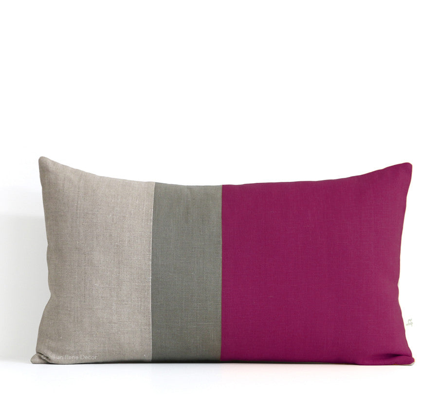 Colorblock Pillow - Sangria