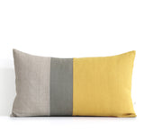 Colorblock Pillow - Squash Yellow