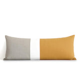Extra Long Lumbar Colorblock Pillow (14x35) Marigold