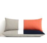 Lumbar Colorblock Pillow Cover - Cobalt Blue