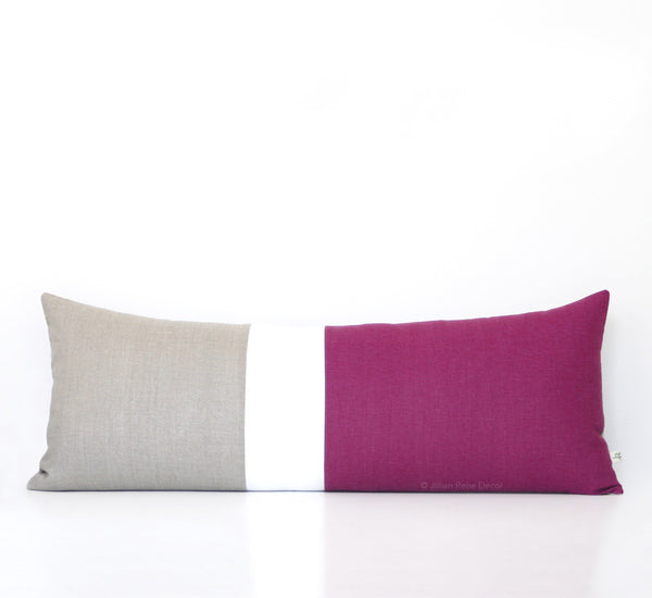 Extra Long Colorblock Pillow - Sangria
