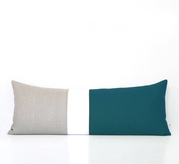 Lumbar Colorblock Pillow - Teal