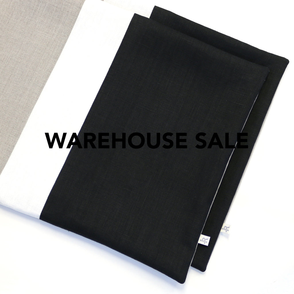 WAREHOUSE SALE 16x20 Colorblock Pillow Cover with Cream Stripe