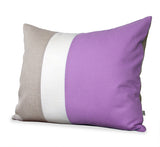 Colorblock Pillow - Orchid/Cream/Natural