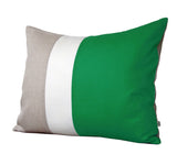 Lumbar Colorblock Pillow Cover - Kelly Green