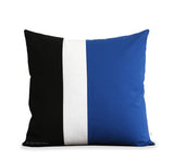 Colorblock Pillow - Cobalt, Cream and Black