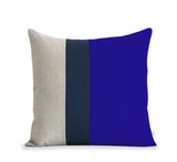 Colorblock Pillow - Cobalt/Navy/Natural
