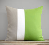 Colorblock Pillow - Lime/Cream/Natural