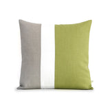 Linden Green Colorblock Pillow Cover