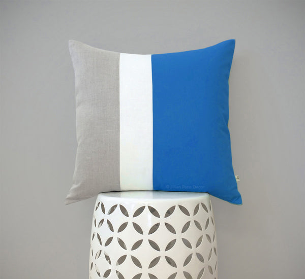 Colorblock Pillow - Pacific/Cream/Natural