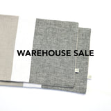 WAREHOUSE SALE 12x16 Chambray Colorblock Pillow Cover with Cream Stripe