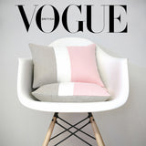 AS SEEN in Vogue Magazine: Rose Quartz Colorblock Pillow Cover