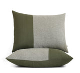 Colorblock Pillow Shams - Olive and Olive Chambray