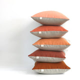 Colorblock Pillow - Burnt Orange